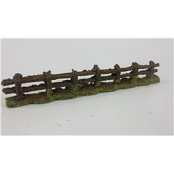 Old weathered grey fence