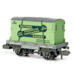 Conflat Wagon With Container Furniture Removals SR