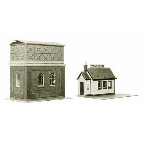 Water Tower & Weighbridge (H. max: 120mm) - Card kit