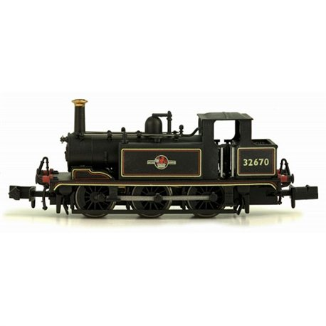 Terrier Tank locomotive 0-6-0T 32670 in BR lined black with late crest