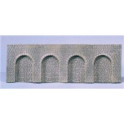 Arcade Wall Natural Stone with Round Arch
