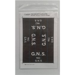 Pre-Group Wagon Tarpaulin Sheets -G.N.S.R. - pack of 2