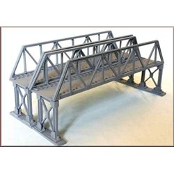 Truss Girder Overbridge Double Track Metal Supports