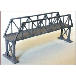 Truss Girder Overbridge Single Track Metal Supports