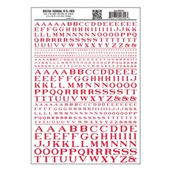 Letters Dry Transfer Sheet - Roman RR Red Dt