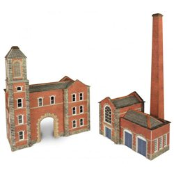 N Scale Boiler House & Chimney