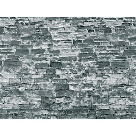 HO Rough stone walling embossed card sheet 250x125mm