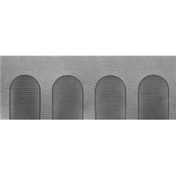 Jordan Brick Round Arches Grey Embossed Sheet No 926