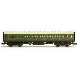 Maunsell Coach Third Class Maunsell Lined Green 2354