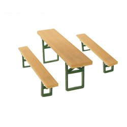 N gauge Beer benches and tables
