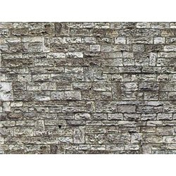 HO Stone wall embossed card sheet 250x125mm