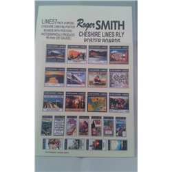 Cheshire Lines Railway Poster Boards with Posters
