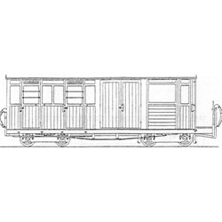 Festiniog Bogie Luggage Brake/3rd Coach