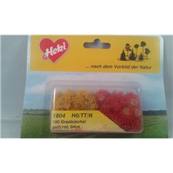 100 tufts of Grass yellow / red