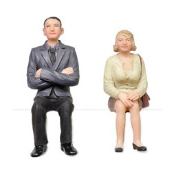 Sitting Man and Woman