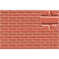 Plastic sheet redbrick 7mm