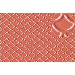 Plastic sheet Scalloped Shell Roof Tile