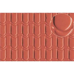 Plastic sheet pantile roof tile 7mm (large)