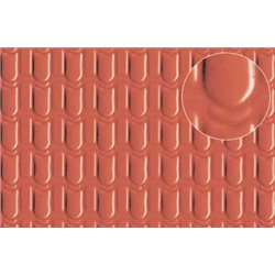 Plastic sheet pantile roof tile 4mm (medium)