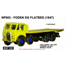 Foden DG 4 Axle Flatbed - yellow