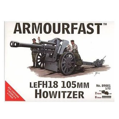 LeFH18 105mm with crew. Contains 2 ...