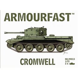 WWII British Cromwell Tank (x2) 1/72 plastic kit (UK)