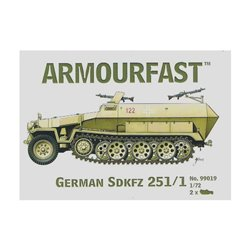 German Sd.Kfz.251/1 Hanomag (x2) 1/72 Tank kit (DE)