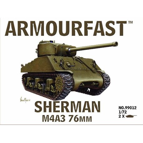 M4A3 Sherman 76mm (x2) 1/72 Tank plastic kit (US)