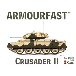 Crusader Mk.II (x2) 1/72 Tank plastic kit (UK)