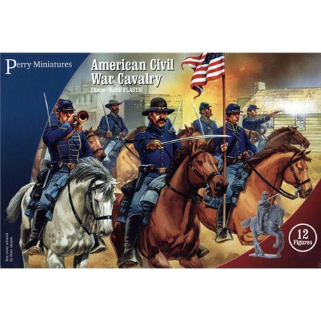 Plastic American Civil War Cavalry - 28mm figures x12