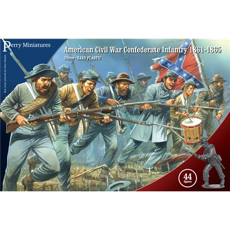 American Civil War Confederate Infantry - 28mm figures