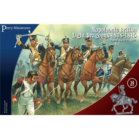 Napoleonic British Light Dragoons 28mm mounted figures x14