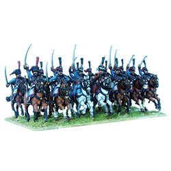 French Napoleonic Hussars – 28mm mounted figures x14