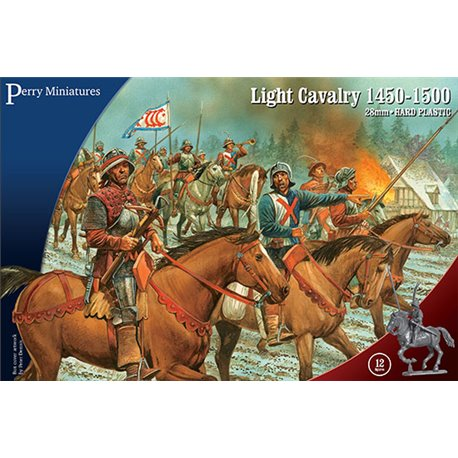 Light Cavalry 1450-1500 – 28mm mounted figures x12
