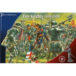 Foot Knights 1450-1500 - 28mm figures x38