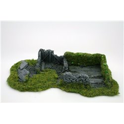 25/28mm Large Derelict Building - Type 12