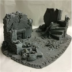 25/28mm Large Derelict Building - Type 14