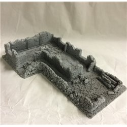 25/28mm Large Derelict Building - Type 17