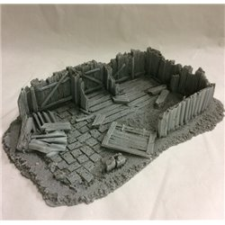 25/28mm Large Derelict Building - Type 18