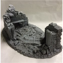 25/28mm Small Derelict Building - Type 6