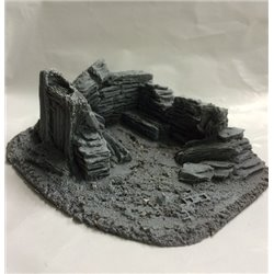 25/28mm Small Derelict Building - Type 8