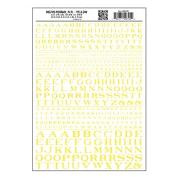 Roman RR Yellow Dry transfer