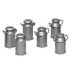 6 Milk Cans