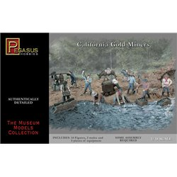 California gold miners / Gold Rush 1/48 scale