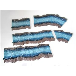 Painted river set (6 pcs - over 1 metre!)