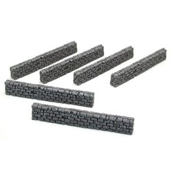 "Block wall 6"" straight (6 pcs per blister)"