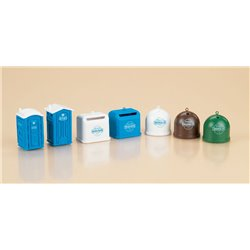 HO Portable toilets & recycling containers