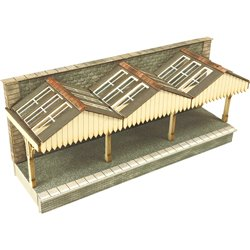 N Scale Wall Backed Platform Canopy