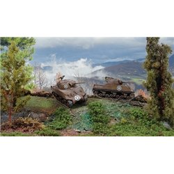 M4A3 Sherman 75mm x 2 Fast Assembly Kits - scale 1 : 72