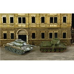Soviet T-34/85 x 2 Fast Assembly Kits - scale 1 : 72